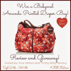NEW Babymel Amanda Printed Diaper Bag Review and Giveaway!