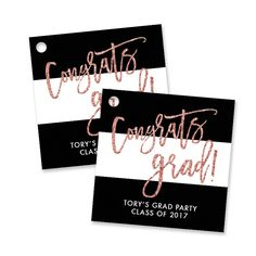 44 best digibuddha graduation invitations images on pinterest in tory blush glitter graduation favor tags pink graduation partygraduation invitationsgraduation filmwisefo