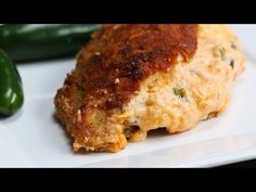 Jalapeño Popper Dip–stuffed Chicken Recipe by Tasty Jalapeno Popper Chicken, Jalapeno Poppers, Jalapeno Dip, Low Carb Vegetarian Recipes, Low Carb Recipes, Cooking Recipes, Spring Recipes, Food For Thought, Stuffed Chicken