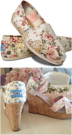 TOMS partnered with Rachel Ashwell, on a Shabby Chic collection of classic TOMS and wedges.