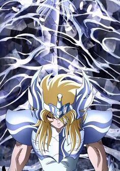 saint-seiya: Cygnus Hyoga Vs Minos //artwork by Tomoharu Katsumata (2005) Hyoga battles Judge Minos before entering Elysium in The Hades Saga, Chapter Inferno!