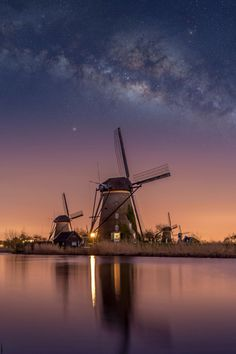 _ Amsterdam Holland, Milky Way, Writing Inspiration, Beautiful World, Location History, Wind Turbine, Airplane View, Beautiful Pictures, Landscape