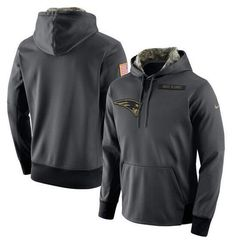 $46 New England Patriots Nike Anthracite Salute to Service Player Performance Hoodie