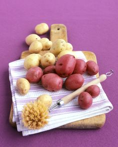Any variety of potato that is harvested early is considered a new potato. Since they are picked before their sugars have converted to starch, new potatoes are crisp and waxy and high in moisture. They also have thin skins, making them great for cooking and eating unpeeled.In Season: New potatoes are in season in spring and early summer.What to Look For: New potatoes should be firm, smooth, and free of cracks or soft brown spots. Choose potatoes of similar size so they cook evenly.How to…