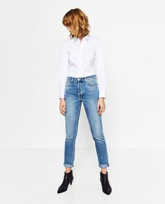 Image 1 of BASIC POPLIN SHIRT from Zara