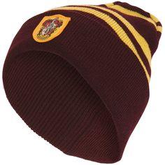 Harry Potter - Mens Harry Potter - Gryffindor Knit Beanie Hat Maroon