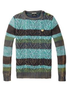 vintage cable knit sweaters in vintage washes work within this look.... cable sweaters also could work within BKE Classic as well. What makes one piece vintage vs. it being classic? The way it's detailed. Rugged and stripes add a vintage touch here.