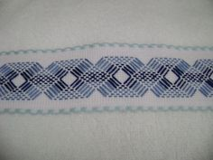 Swedish Embroidery, Diy Embroidery, Cross Stitch Embroidery, Canvas Template, Huck Towels, Swedish Weaving Patterns, Monks Cloth, Drawn Thread, Running Stitch