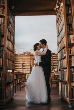 library wedding