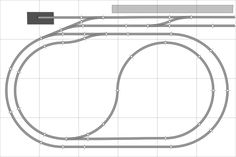 Oval with Return Loop 6x4 - Free Track Plans for your Model Railway