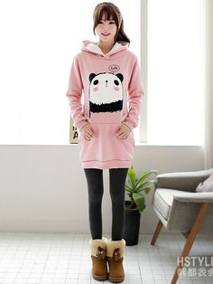blushing panda hoodie outfit.
