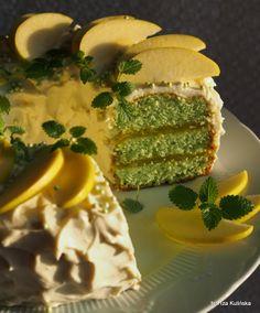 Smaczna Pyza: Babka kisielowa jabłkowa a'la tort