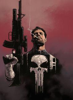 fumettierotici:  scifi-fantasy-horror:  bydave seguin  The Punisher