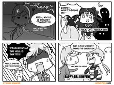 A 2009 Halloween Special Sailor Moon doujinshi/comic - featuring Yaten Kou/Sailor Star Healer, Seiya Kou/Sailor Star Figher and Queen Nehellenia!