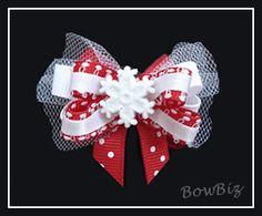 #BTQ150 - Boutique Dog Bow - Let It Snow!