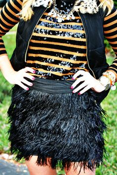 Fancy Feather Skirt