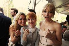 L to R, I don't know, Hayley Williams, Taylor Swift at Josh Farro's wedding :)