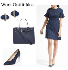 A monochromatic outfit for work adds polish and sophistication to a trendy look! Click through for details.