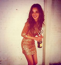 sparkly dress + champagne