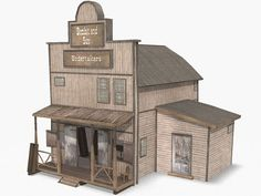 Building plans for old western town buldings | www.turbosquid.com Wild West Buildings - Undertakers