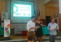 En el centro de Innovación Social La Noria junto a Emiliani Jiménez (Diputada Provincial) y Juan de Dios Villena (Social Media Strategist) durante la entrega de diplomas del I Curso de Community Management en Cofradías de la Provincia de Málaga.