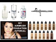 DIY Airbrush Foundation Made easy and inexpensive Tutorial - YouTube
