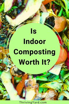 Are Indoor compost systems worth the effort? Indoor kitchen composting has unique requirements. In this blog we discuss problems, challenges and solutions for indoor kitchen composting. Plus, we review indoor compost bins for composting organic material indoors. Learn more here. #indoorcomposting #kitchencomposting #composting #howtocompost #compostbin Compost Mulch, Worm Composting, Healthy Fruits And Vegetables, Different Vegetables, Gardening For Beginners, Gardening Tips, Kitchen Compost Bin