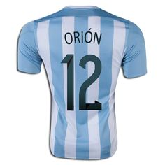 Agustin Orion 12 2015 Copa America Argentina Home Soccer Jersey
