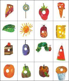 Hungriges Caterpillar Bingo, in 2020 Very Hungry Caterpillar Printables, Hungry Caterpillar Food, Caterpillar Book, Laura Ingalls Wilder, Eric Carle, Children's Literature, Toddler Gifts, Preschool Activities, Preschool Classroom