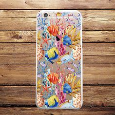 Ocean Sea Fish Custom TPU Silicone Rubber Case iPhone 4 4s 5 5s 5c SE 6 6s plus #Cover #Shockproof #Skin #Slim #Protector #Protective #Luxury #Phone #case #cover #Cheap #Best #Accessories #plus #Cell #Mobile #Hard #Pattern #Rubber #Custom #Ultra #Thin #silicone #plastic #laptop #macbook #Cracked #Classic #Granite #Retro #Grain #Illusion #Effect #Vintage #marble