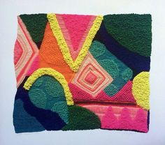Not Afraid - print of my original hand embroidered and beaded textile artwork by Liz Payne