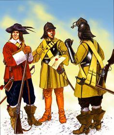 Popham's Parliamentarian Horse Dragoons, English Civil War