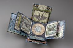 Moonlight And Music -  Mixed Media Vintage Compact Book by Sharon McCartney #artists_book
