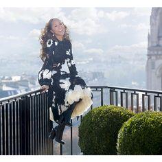 "Marjorie Harvey on Instagram: ""Celine Fashion show #ootd #pfw #couturechronicles #MarjorieHarvey @robertector @devvision @kiyahwright1 @jasonmcglothin @theladylovescouture"""