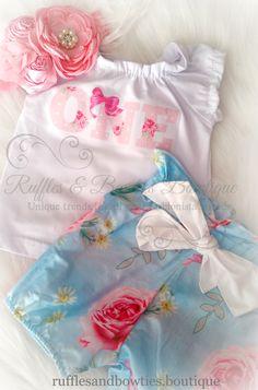 "Vintage Birthday ""One"" Pink Polka Dot & Floral Onesie/Shirt"