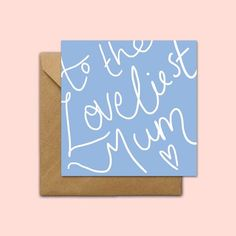 To The Loveliest Mum - Mother's Day Card - Mothering Sunday Card - Mother Card - Mum Card - Sweet Mum Card - Mum Birthday Card Birthday Surprise Kids, Happy 30th Birthday, Best Birthday Wishes, Birthday Gift For Wife, Birthday Cards For Mum, Birthday Diy, Birthday Party Themes, Birthday Invitations, Birthday Message