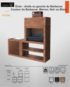 BBQ and ovens-Modern Barbecue with Sink Parrilla Exterior, Method Homes, Barbecue Design, Outdoor Barbeque, Kitchen Grill, Diy Outdoor Kitchen, Outdoor Privacy, Bbq Area, Interior Design Living Room