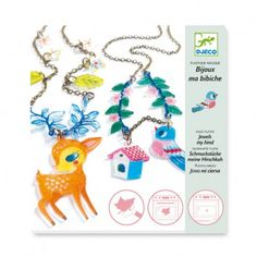 Make your own jewelry the foal and the bird - plastic magic  Djeco