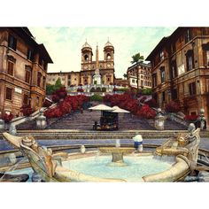 Spaanse trappen Wat te doen in Rome by None, via Polyvore