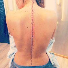 Girl text tattoo