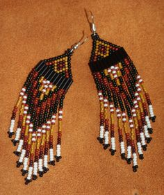 Fall Richness Inspired Native Beaded earrings