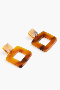 Lois Earrings in Tortoiseshell by Valet - Tnuck