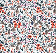 """""""Simple and floral""""- vector seamless patterns on Behance"""