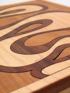 Wood Inlay Jewelry Box  Chocolate Maple by TimberGreenWoods, $145.00