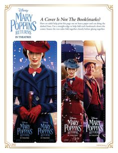 Disney Mary Poppins Bookmarks Free Printable Craft Page