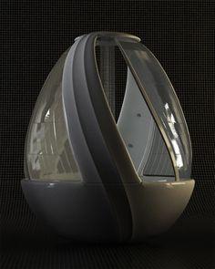 Futuristic Interior Design Bathroom Egg Shower 4