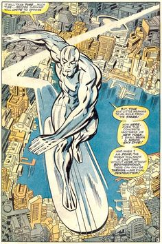 SILVER SURFER by Jack Kirby and inker Joe Sinnott