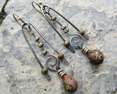 Tempest. artisan earrings primitive tribal boho by beatnheart