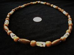 Bone Necklace with Skull Mala Beads  For a Man or Woman by Dare2beUNIQUE