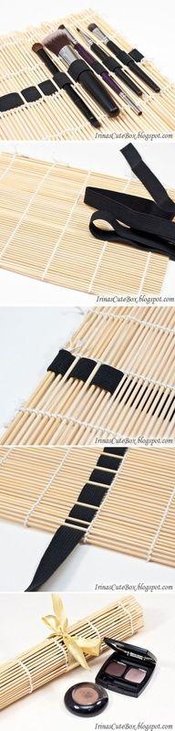 para los pinceles de maquillaje, o para las témperas, opara guardar los hilos de bordar
